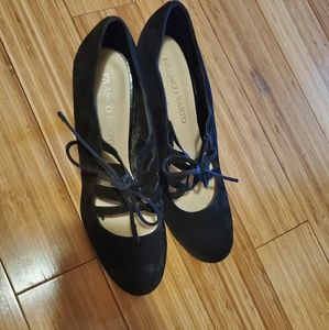 Franco Sarto Suede Closed Toe Heels 3.5""